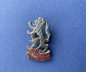 Vintage Scotish Empire Exhibition 1938 Pin Badge British History Scotland