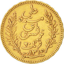 [#450734] Tunisie, Ali Bey, 20 Francs, 1897, Paris, TTB+, Or, KM:227