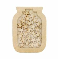 Freestanding MDF Small Reward Chart Jar Drop Box - Star Tokens