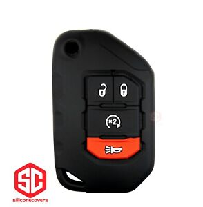 1x New Key Fob Remote Fobik Silicone Cover Fit / For Jeep Gladiator Wrangler.