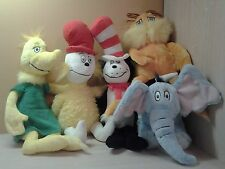 5 Kohls Cares Plush Animals Horton Cat In the Hat Lorax Sneetch and more