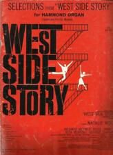Selections From West Side Story Hammond Organ Sheet Music 7 Songs Maria Tonight