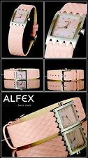 alfex Swiss Made Ladies DESIGNER Watch Rhombus Pattern
