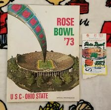 1973 Rose Bowl Program *USC vs OHIO STATE* with Ticket Stub -Excellent Condition
