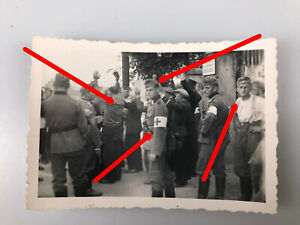 Foto, Polnische Heckenschützen werden von der Wehrmacht verhaftet, Polen  No2