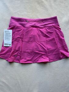 NWT Lululemon Pace Rival Skirt Tall Sonic Pink size 6