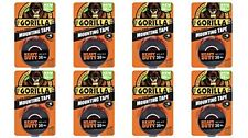 "Gorilla 6055001-8 Double-Sided Heavy Duty Mounting Tape (8 Pk), 1"" x 60"", Black"