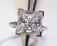 1.5 ct Ring Top CZ Imitation Moissanite Simulant Solid 14 kt Yellow Gold a 4.5