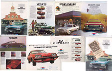 Nine 1975 CHEVROLET US Brochures & Product Info Book CAMARO IMPALA NOVA VEGA etc