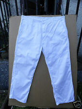 "WHITE 100% COTTON WORKWEAR TROUSERS SIZE 44.5""WAIST 30""LEG"