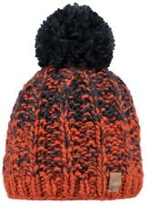 NEW BARTS BEANIE FARRELL HAT BRICK MULTI COLOUR  KNIT + POM