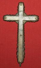Antique Handcrafted Bronze Cross Crucifix