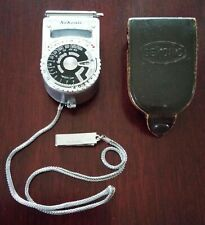 Seiko Sekonic Light Meter Model Type L6 W/ Original Leather Case Works 1950s Era