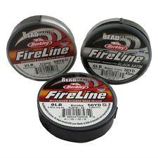 50 Yards FIRELINE Microfused Braided Bead Thread  CRYSTAL/SMOKE/BLACK SATIN