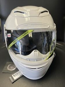 Icon Airmada Full Face Motorcycle Street Helmet -  Open Box Size M Solid White