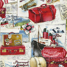 Brother Sister Design Studio ACROSS THE ATLANTIC Travel Voyage Holiday fabric