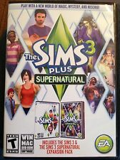 The Sims 3 Plus Supernatural Expansion Pack (PC, 2012) Video Game! C26