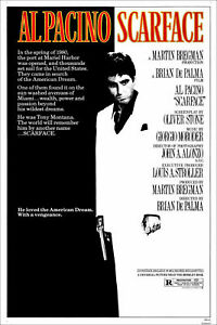 SCARFACE AL PACINO 1983 MOVIE Poster Premium Quality Choose your Size