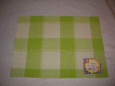 PLACEMATs (1) red green blue place mat table bar solid back 13 x 18 CHOICE