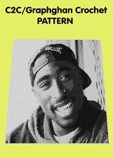 Tupac Tribute Blanket  - C2C Graphghan Crochet Pattern