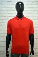 RALPH LAUREN Polo Rossa Uomo Taglia 2XL Maglia Camicia Shirt Man Herrenhemd