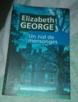 Un nid de mensonges. Elizabeth George. Très bonne état français