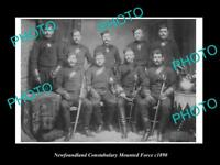 OLD LARGE HISTORIC PHOTO OF THE NEWFOUNDLAND POLICE CONSTABULARY FORCE c1890
