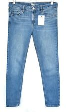 Topshop Slim Skinny BAXTER Blue Mid Rise Stretch Crop Jeans Size 12 W30 L34