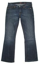 7 For All Mankind Flynt Size 28 Womens Jeans 31x31 Dark Stretch Hemmed Denim