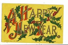 CPA-Carte Postale en relief  vierge -Angleterre - A  Happy New Year -VM8010