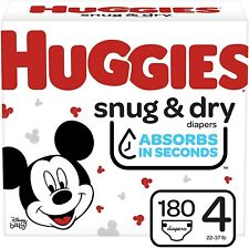 * Hot * Huggies Snug & Dry Baby Diapers, Size 4, 180 Ct, One Month Supply. (^_^)