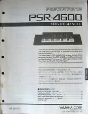 Yamaha PSR-4600 Portatone Keyboard Original Service Manual, Schematics Book