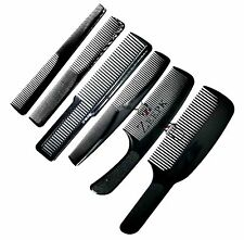 6pc Barber Combs Professional Complete Set Flat top Taper Styling Fade Inch Mark