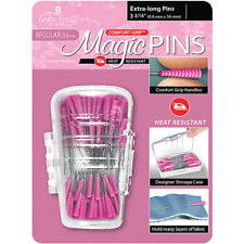 "Taylor Seville Magic Pins 50 Extra Long Pins 2 1/4"" ~ Comfort Grip Handle"