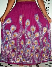GYPSY HIPPIE ETHNIC TRADITIONAL SEQUIN EMBROIDERED HANDWORK BOHO LONG SKIRT
