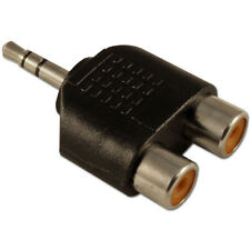 Conector estéreo mini Jack 3.5mm a RCA Fono Doble 2 x Adaptador Convertidor zócalos