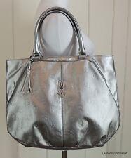 Victoria's Secret Pewter Silver VS LOGO Handbag Summer Beach