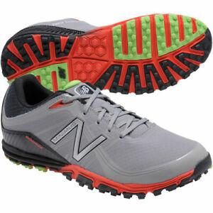 New Balance Men's MINIMUS NBG1005 Golf Shoes - Grey/Orange, 9.5 M