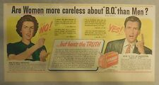Lifebuoy Soap Ad: Are Women More Careless About B.O. Than Men ? from 1940's