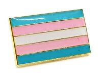 Transgender Flag Enamel Pin Badge Trans LGBT Pride Gay Lapel UK Seller