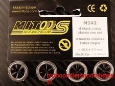 M242 Mitoos Black Lotus Classic Wheels x4 - 16.6 x 5.7mm - Fits Axle 2.38mm