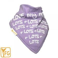 Funky Giraffe Lilac I Love Mummy Bandanna Bib **Buy 4 get 1 FREE** 5 for £11.96