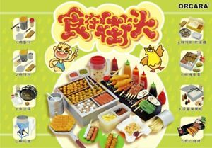 ORCARA Miniature Hong Kong Streets Snacks Re-ment size rement Full set of 8