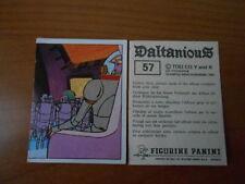 figurina DALTANIOUS n.57- ED. PANINI 1981 completa di velina