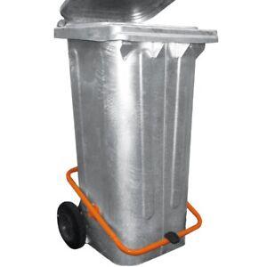 Mülltonne / Müllgroßbehälter Stahl / verzinkt 120 liter mit Tretpedal