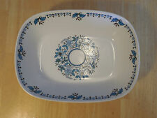 Noritake Progression BLUE MOON 9022 Oval Vegetable Bowl 9 in