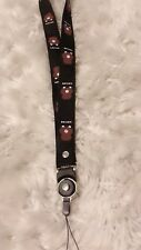 Cute Black Brown Bear Detachable Ring cell phone lanyard strap/ ID Holder strap