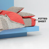 KENZO - MESH GALET FITTED SHEETS 100% COTTON 70% OFF RRP - X