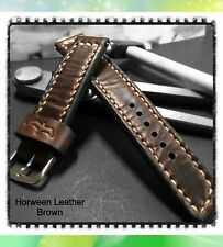 Müller&Son Genuine Horween Leather 22 mm Brown Watch Strap Custom Made in USA