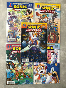 Sonic Universe The Hedgehog 20-24 Archie Comic Book SEGA Shadow Tails Rare Old